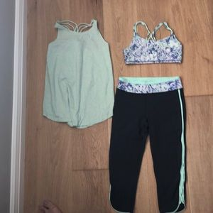 Three piece set from Ivivva- Size 10 girls